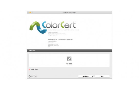Software X-Rite ColorCert QA