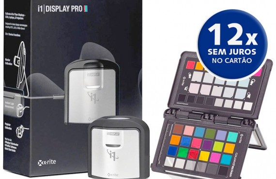 Kit Calibrador i1 Display PRO e ColorChecker Passport da X-Rite
