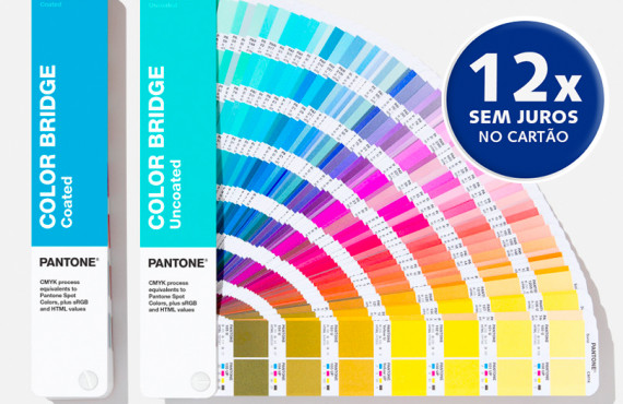 Escala Pantone Color Bridge Set Coated & Uncoated Edição 2020